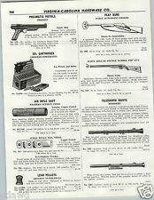 1956 PAPER AD Daisy Play Gun Automatic Smoker Pop Guns Red Ryder Eagle Pump