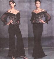 OOP Bellville Sassoon PATTERN Vogue Bustier 2841 S M 6 8 10 Flared Skirt Pants