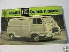 Renault Estefette R2132-R2133 notice d'entretien N.E925