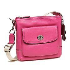 Coach Park Leather Swingpack Bright Magenta ~ F49170