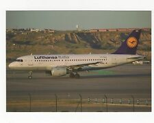 Lufthansa Italia A319-112 at Madrid Aviation Postcard, A637