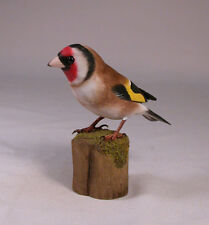 European Goldfinch Original Bird Carving/Birdhug