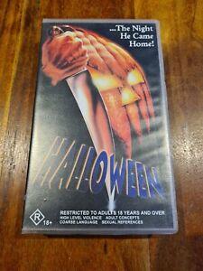 HALLOWEEN AUSTRALIAN VHS MOVIE PAL VIDEO HORROR John Carpenter