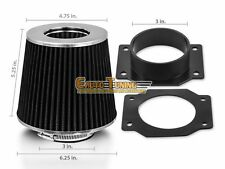 Mass Air Flow Sensor Intake Adapter + BLACK Filter For 99-02 Quest 3.3L V6
