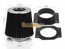 Mass Air Flow Sensor Intake Adapter + BLACK Filter For 95-99 200SX Sentra 1.6 L4