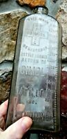 "CIMOL EMBALMING FLUID BOTTLE- 60 0Z. RARE- UNUSUAL-11"" x 4""--TRUE FIND 4 U!!!"