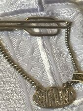 STERLING SILVER ESTATE RARE!! STERLING MARCASITE INITIAL TIE BAR-HARRY ISKIN