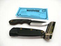 Tops MSK-2.5G10 Black Green G-10 Mini Scandi Straight Fixed Neck Knife + Sheath