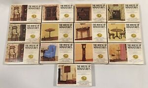 LOT (13) X-ACTO/ THE HOUSE OF MINIATURES DOLLHOUSE FURNITURE KITS-NOS-OPEN BOX