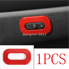 For 2011-2019 Jeep Grand Cherokee ABS Red Interior Seat Memory Button Cover Trim
