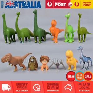 12 Pcs The Good Dinosaur Action Figures Figurine Cake Topper Toy Kids Decor Gift