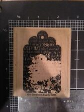 Red Hat tag wood mounted Rubber stamp - some discoloration damage