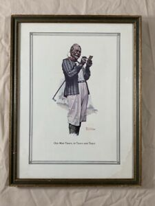 Vintage OLD MAN TRACY, OR TRACY AND TRACY Norman Rockwell Framed Art Print