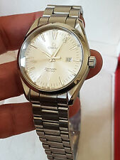 OMEGA Seamaster Aqua Terra Watch Stainless Steel Men Quartz Ref 2517 Cal 1538