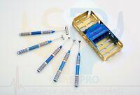 Dental Soft Brushing Kit PRF Lingual Tissue Flap implant instruments Gold Box CE