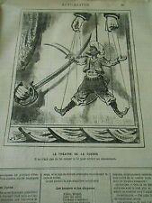 Typo 1881 - Marionnette lui couper le fil Théatre de la guerre