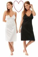 Details about  /Ex M/&S ladies white full lace slip Size 23-26 inches Long Sizes 12