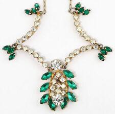 Rhinestone Necklace Retro Costume Jewellery (1940s)