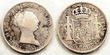 España-Isabel II. 20 Reales. 1855. Madrid. BC+/F+. plata 24,9 g. Escasa