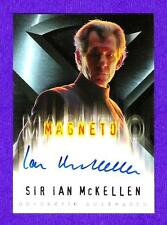 SP On card Auto Sir Ian Mckellen 2000 Topps X Men Signed Autograph Autographed