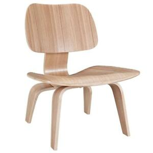 Modway EEI-510-NAT Fathom Mid-Century Modern Molded Plywood Lounge Accent Chair