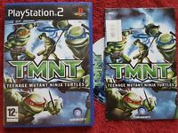 TMNT TEENAGE MUTANT NINJA TURTLES ORIGINAL SHINY INLAY SONY PLAYSTATION 2  PS2