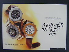 Pulsar Kinetic Seiko Watch Color Promotional Promo Advertising Postcard 1998