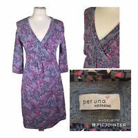 M S Per Una Weekend Cotton Floral Wrap dress Size 10