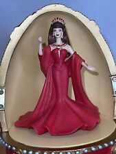 """Collectible Countess of Rubies Musical Barbie in Jeweled Egg 11"""" Tall No Box"""