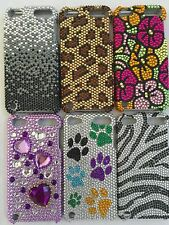 FOR iPOD TOUCH 5TH GEN DIAMOND RHINESTONES HARD CASE COVER