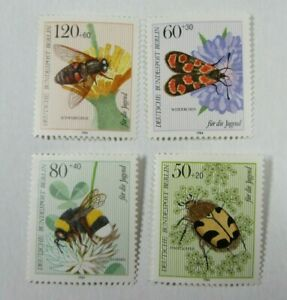 Set of 4 INSECT STAMPS From GERMANY #C9