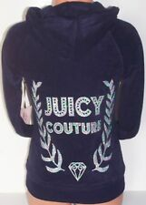 Women's Juicy Couture Bling LEAF CREST HOODIE JACKET Evening Navy XS NWT $60