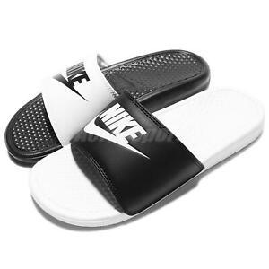 Nike Benassi JDI Mismatch Black White Men Women Sandal Slides 818736-011
