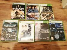 MICROSOFT XBOX 360 7 GAMES BUNDLE ALL COMPLETE ALL WORKING FREPOST FEAR HALO 3
