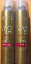 "2 L'OREAL VIVEpro GLOSSY STYLE GLOSSY VOLUME ""MOUSSE"" STRONG HOLD  2 x 6.8 oz."