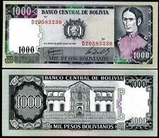 Bolivia 1000 bolivianos 1982 p-167 unc