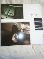 FOLLETO de T100 de Toyota 1995 EE. UU. del mercado de gran formato