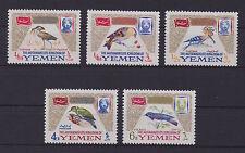 YEMEN (Royalist/MKY) – 1965 Birds set of 5, MNH-VF, Michel 148A-52A, Euros 20