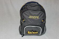 "PotteryBarn Boys Gray Small Superhero Batman Backpack & FREE PencilCase ""JOSEPH"""