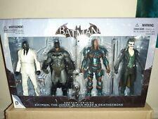 Batman Arkham Origins Deathstroke, Batman, Joker And Black Mask Action Figure...