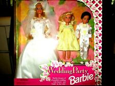1994 Barbie Wedding Party Gift set with Stacie & Todd Dolls #13557 New Sealed