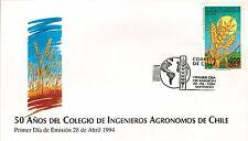 Chile 1994 FDC 50 años Colegio de Ingenieros Agronomos de Chile