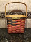 BRADFORD BASKET COMPANY 1998 SQUARE FLAG BASKET WITH SWING HANDLE 4TH OF JULY