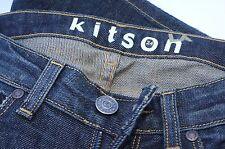 NUEVO KITSON Mujer vaqueros azules Size 24 Cremallera 5 BOLSILLOS Relajado