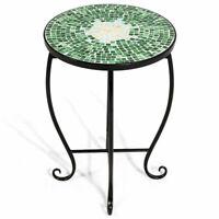 Outdoor Indoor Accent Table Plant Stand Scheme Garden Steel Green