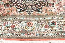 £30000 Liberty London pure silk Persian Qomm  hand knotted  rug 280 x 190 cm