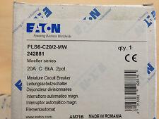 Interruttore magnetotermico 2P 20A 2 moduli 6KA EATON 242881
