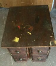 Original Antique Mahogany Singer Sewing Box four drawer collector item sturdy