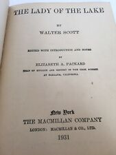 The Lady Of The Lake By Sir Walter Scott Antique Book