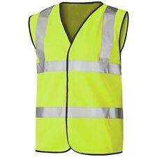 HI VIS VIZ HIGH VISIBILITY VEST SAFETY WAISTCOAT SECURITY WORK REFLECTIVE TOP